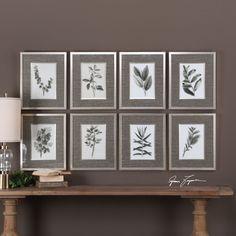 Uttermost 33658 Sepia Gray Leaves Wall Art