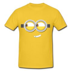 7e5eb373c77a Naughty Minion Eyes Gold Adult Standard Weight T-shirt For Men  Shop-Official Brands