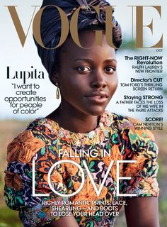 Sunset Starlet - Lupita Nyong'o wears a Chanel dress and Cathy Waterman earrings.  To get this look, try: La Base Pro Hydra Glow, Nude Miracle Weightless Foundation, Les Sourcils Definis Brow Expert in Noir, Color Design Eyeshadow Palette in Kissed by Gold, Grandiôse Extrême Mascara, Juicy Tubes in Pure. All by Lancôme.  In this story: Hair: Vernon François for Vernon François; Makeup: Nick Barose Produced by On Screen Productions (Kenya) Special thanks to MT