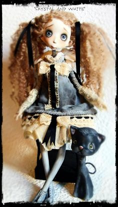 RESERVED for ''E'' Ooak Art Doll ''Crystal and by AnthiArtdolls