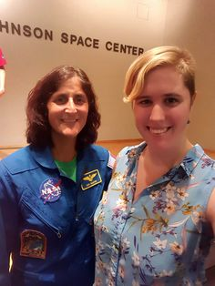 Kristen Lundebjerg and astronaut Suni Williams: Kristen Lundebjerg BSME '17 took reaching for the stars to a new level with her co-op at NASA. Lundebjerg worked in the external relations department for NASA in Houston, Texas, helping to shape the type of space-related literature she once saw as a child.
