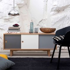 A modern take on the classic sideboard from the 1950's the Moodi 130 Sideboard updates the design with a sleek and minimalistic appearance. http://www.yliving.com/blog/top-10-scandinavian-pieces-dining-room/
