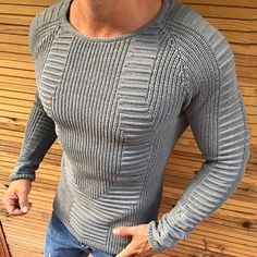 Ill NEVER BE HER Mens Cotton Sweater Pullovers O-Neck Jumper Autumn Thin Male Solid Knitting M-3XL New