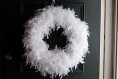 feather christmas wreath - Google Search