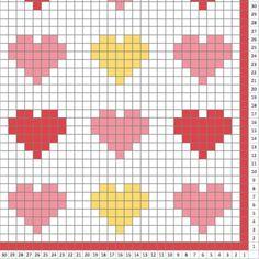 Hearts blanket - Crochet Pattern Blanket - pattern - Crochet Graph - Crochet Pattern - Blanket - Corner to Corner - Baby Blanket Hearts blanket Crochet Pattern Blanket pattern Christmas Crochet Blanket, Crochet Heart Blanket, Afghan Crochet Patterns, Cross Stitch Patterns, Graph Crochet, Crochet Baby, Tapestry Crochet, Knitting, Etsy