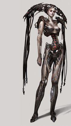 techs-mechs:   Borg queen concept - Robots, cities, future, etc.