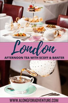 Afternoon tea is a must-do activity for first time visitors in London! Scoff & Banter Tea Rooms have a delightful tea service with a menu everyone will love. London England Travel, London Travel, Europe Travel Guide, Travel Guides, Travel Destinations, Travel Abroad, Travel Advice, Afternoon Tea London, Berlin
