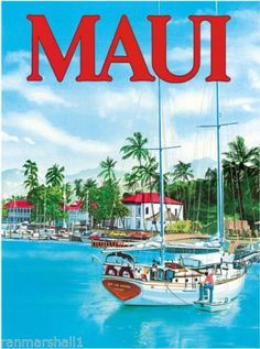 1960s-Maui-Hawaii-Hawaiian-Beach-United-States-Travel-Advertisement-Art-Poster-2