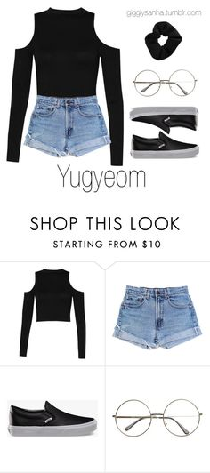 """""""Casual LA Date // Yugyeom"""" by suga-infires ❤ liked on Polyvore featuring Boohoo, Levi's, Vans and Topshop"""