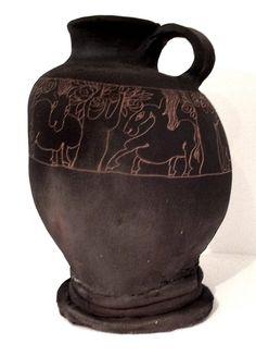 """Mostra """"VISIONI ONIRICHE"""" Vaso in #terracotta #GigiPedroli - #MIDeC - #Cerro"""