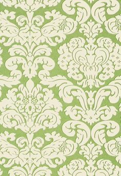 TRELAWNY DAMASK, Green, T14219, Collection Imperial Garden from Thibaut