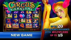 Circus Carnival Video Slot is yet another brand new and exciting game to play at Cleos VIP Room. Circus Carnival provide the potential for phenomenal wins . New Players Get $20 Free No Deposit required