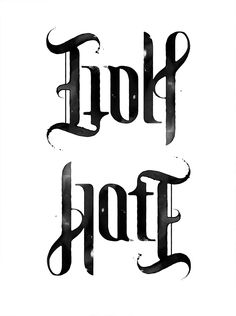 HATE GOLF. ambigram from inocuo the sign. pin by www.povetx.de