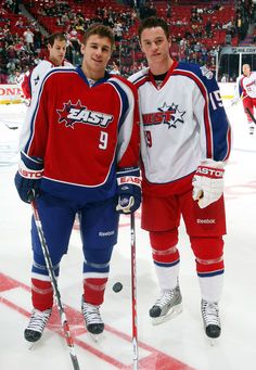 Zach Parise and Jonathan Toews
