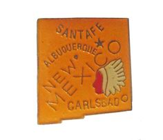 """vintage NEW MEXICO STATE lapel cloisonne enamel pin santa fe albuquerque nm by VintageTrafficUSA  11.00 USD  A vintage New Mexico cloisonne pin. Excellent condition. Measures: approx 1"""" Add inspiration to your handbag tie jacket backpack hat or wall. Have some individuality = some flair! 20 years old hard to find vintage high-quality cloisonne lapel/pin. Beautiful die struck metal pin with colored glass enamel filling. -------------------------------------------- SECOND ITEM SHIPS FREE IN…"""