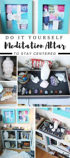 DIY Spiritual Meditation Altar For A Home Office | Arts and Classy