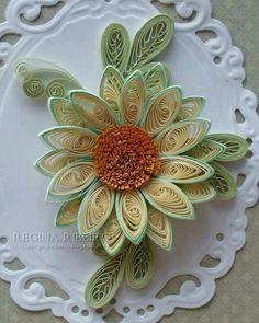 Květ Gerbera * quilling