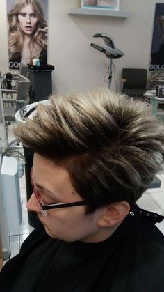 Sombre / Ombre. Wykonanie: Ania. www.fryzjer.lublin.pl #sombre #ombre #short #haircut #hair #hairstyle #dyed #Lublin #włosy #fryzury #damskie