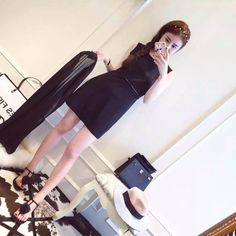Black brand new special two way goddess dress Two way to wear Icy Dresses Maxi