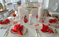Red Valentine's Day Tablescapes & Table Settings