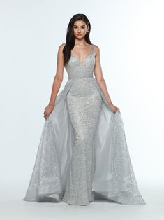967cd83727dd Step off the red carpet and into prom in this striking prom dress style Zoey  Grey shows off a stunning style with a tulle over skirt to ensure yo.