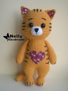 Ideas crochet cat amigurumi dogs for 2019 Gato Crochet, Crochet Animal Amigurumi, Knitted Animals, Crochet Animal Patterns, Crochet Bunny, Stuffed Animal Patterns, Amigurumi Doll, Crochet Dolls, Crochet Crafts