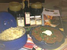 YIAH Beef Stroganoff and YIAH Herb and garlic mash