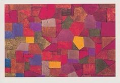 Postcard with a painting of Paul Klee, an Artist from Switzerland.