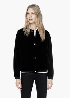 Velvet jacket - Jackets for Women | MANGO