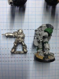 Leave No Model Unconverted: The 31mm Space Marine Project - Page 8 - + WORKS IN PROGRESS + - The Bolter and Chainsword