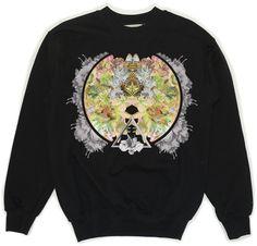 Black Sweatshirt With Circle Print via KOLYA KOTOV.