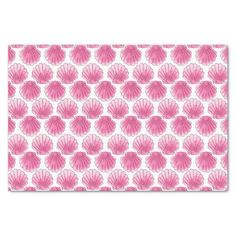 Pink Watercolor Seashell Tissue Paper