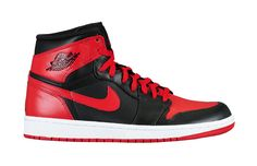 "Nike Air Jordan I - 1985 - MJ originally commented that ""I can't wear that shoe, those are Devil colors."""