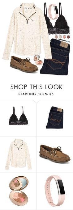 """""""I'm getting a kitten tomorrow!!🐱🐱"""" by mackenziegrimoldby ❤ liked on Polyvore featuring Humble Chic, Abercrombie & Fitch, Sperry, Fitbit and Terre Mère"""