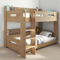 £279.97 - Sky Bunk Bed in Oak - Ladder Can Be Fitted Either Side! from Furniture123 - the UK's leading online furniture and bed store