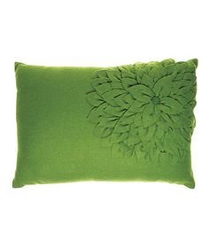 Vern Yip Home Chrysanthemum wool-and-felt pillow (14 by 20 inches), $40, hsn.com.