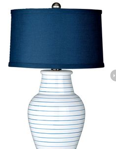 Light up a room with this chic striped table lamp and add a touch of nautical fun to a bedroom #NauticalChic