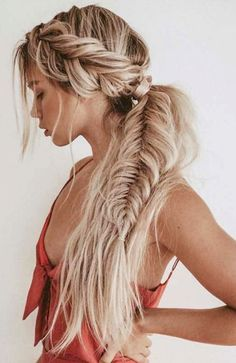 ponytails hairstyles to change your look; lovely low ponytail hairstyles to try; - ponytails hairstyles to change your look; lovely low ponytail hairstyles to try; elegant ponytails for your special day; Braided Ponytail Hairstyles, Bohemian Hairstyles, Easy Hairstyles For Long Hair, Box Braids Hairstyles, Wedding Hairstyles, Gorgeous Hairstyles, Perfect Hairstyle, Fashion Hairstyles, Hairstyle Ideas