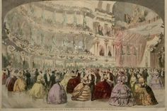 Unidentified Artist   Grand Ball Given at the Academy of Music, New York  The Illustrated London News. 1860.