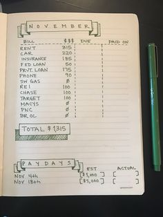 Bullet journal – Finance tips, saving money, budgeting planner Bullet Journal Inspo, Bullet Journal Organisation, Financial Organization, Budget Organization, Bullet Journals, Bullet Journal Finance, Bullet Journal Money Tracker, Agenda Organization, Bullet Journal Project Management