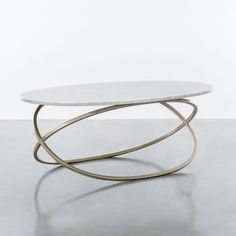 Chantal Coffee Table Shine by S.O, Discover home design ideas, furniture, browse photos and plan projects at HG Design Ideas - connecting homeowners with the latest trends in home design & remodeling Unique Coffee Table, Coffe Table, Coffee Table Design, Modern Coffee Tables, Oval Glass Coffee Table, Metal Furniture, Table Furniture, Furniture Design, Brass Console Table