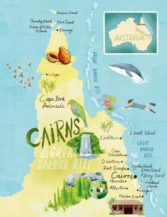 Cairns Great barrier reef map - Scott Jessop