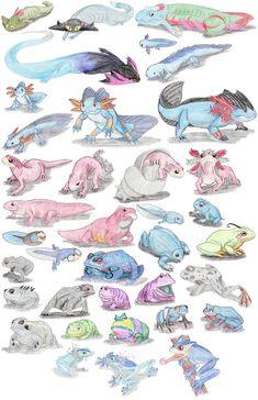 Amphibian Pokemon by DragonlordRynn on DeviantArt Real Pokemon, Pokemon Special, Pokemon Fan Art, Cute Pokemon, Pokemon Stuff, Pokemon Breeds, Pokemon Memes, Pokemon Cards, Pokemon Pictures