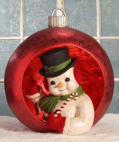 Ornamental Snowman | Bethany Lowe Christmas Display