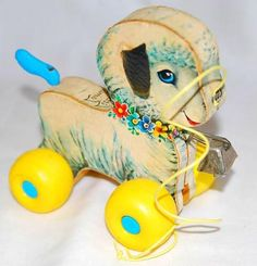1960's Fisher Price Lamb Pull Toy - Photo by socal72girl.