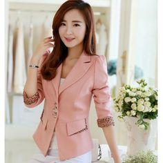 Shrug Suit Female Autumn New Korean Fashion Leopard Patchwork Blazer Women Large Size Slim Long Sleeve Single Breasted Blazer