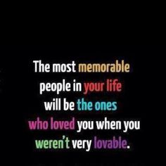 memorable to me = family (actually related or not)