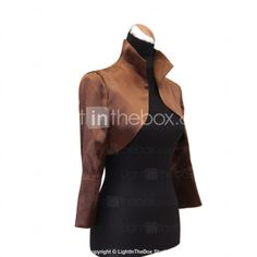 Nice Long Sleeve Standing Collar Stretch Satin Evening/Casual Wrap/Jacket(More Colors) - GBP £ 24.35