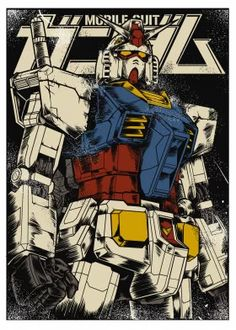 Gundam the First Anime & Manga Poster Print Arte Gundam, Gundam Art, Gundam Head, Gundam Wing, Pop Art Posters, Poster Prints, Astray Red Frame, Framed Tattoo, Gundam Mobile Suit