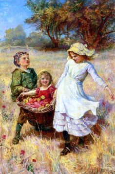 Frederick Morgan~ Back From The Orchard.